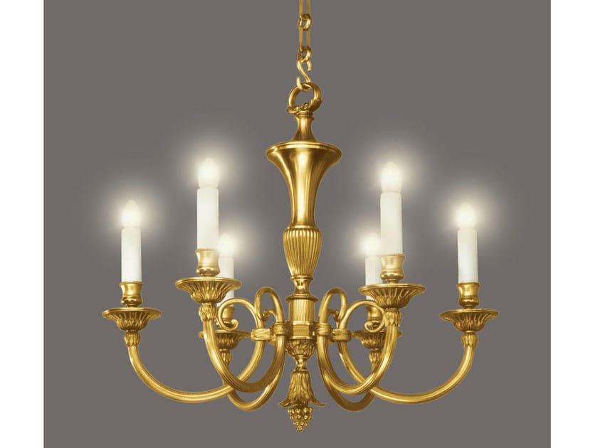 Bronze chandelier 14392 | Chandelier by Tisserant