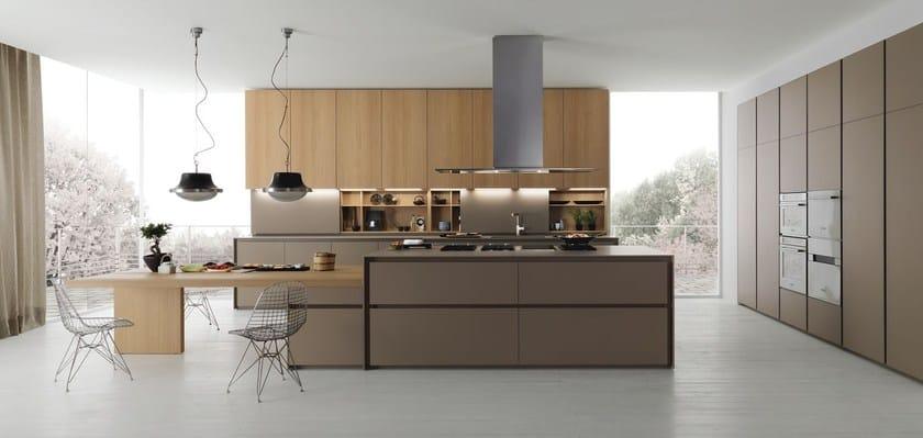 Axis 012 kitchen with island by zampieri cucine design stefano cavazzana - Cucine moderne scure ...