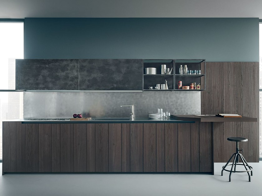 Oak kitchen FIFTY | Composition 02 by Zampieri Cucine