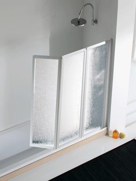 Folding plastic bathtub wall panel LYRA V by RELAX