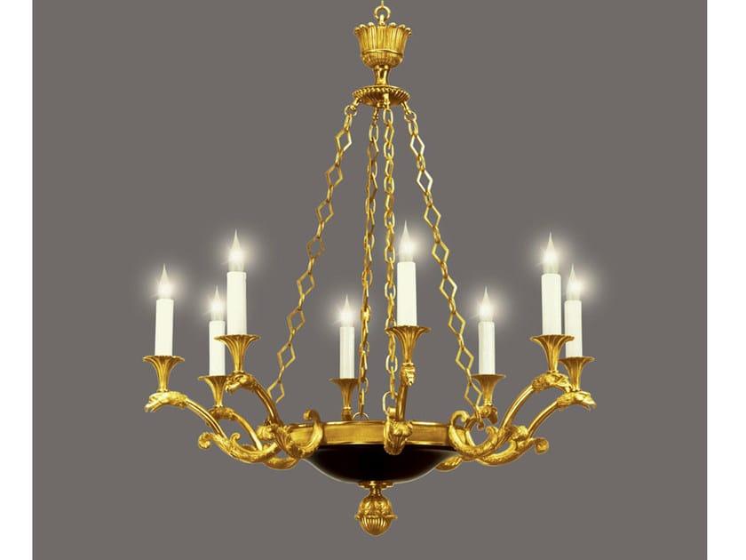 Bronze chandelier 14477 | Chandelier by Tisserant