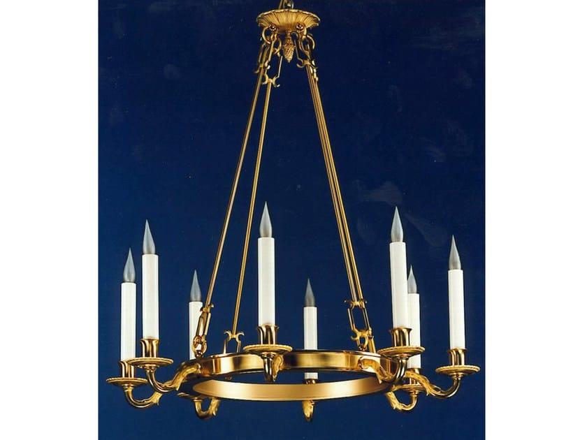 Bronze chandelier 14446BIS | Chandelier by Tisserant