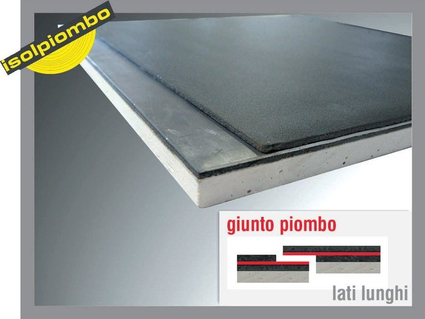 Sound insulation and sound absorbing felt with lead-laminate CARTONPIOMBO by Thermak by MATCO