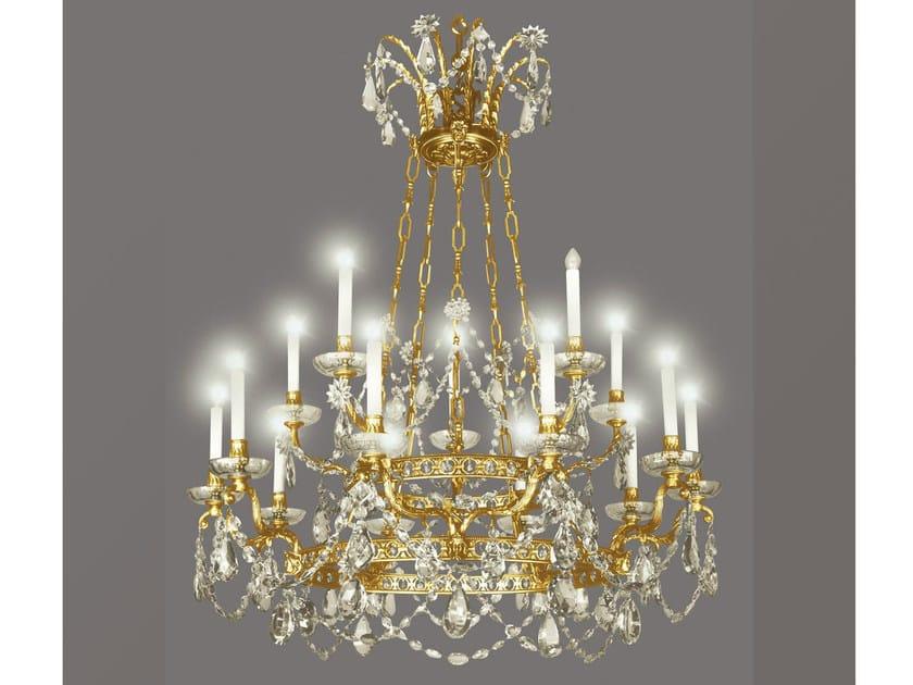 Bronze chandelier 14431 | Chandelier by Tisserant