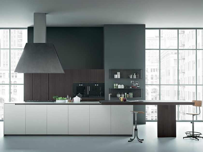 Oak kitchen with island FIFTY | Composition 03 by Zampieri Cucine