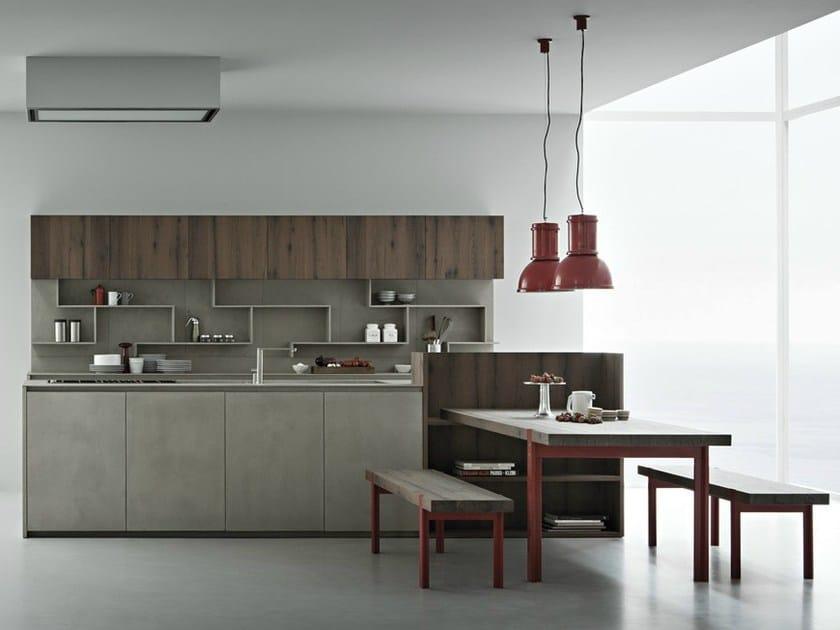 Cucina in resina di cemento con isola line k cucina con for Cucine di design con isola
