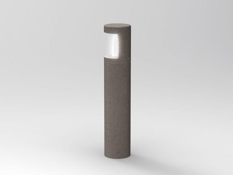 Cement bollard light PIPELINE C 90 by Lombardo