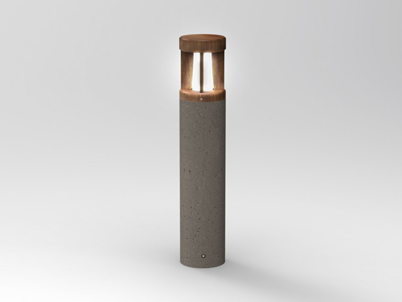 Cement bollard light PIPEWOOD 90 by Lombardo