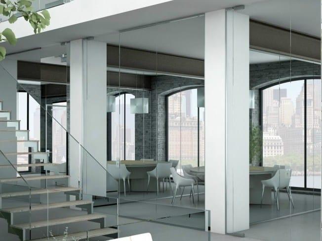 Office partition LIGHT P-050 by Metalglas Bonomi