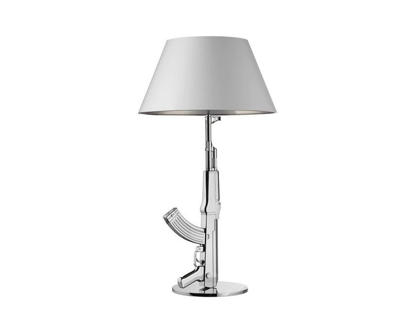 LED chrome plated steel table lamp TABLE GUN | Chrome plated steel desk lamp by FLOS