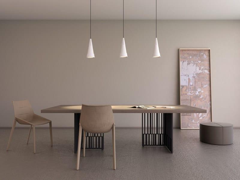 Cement pendant lamp HANS by Lombardo
