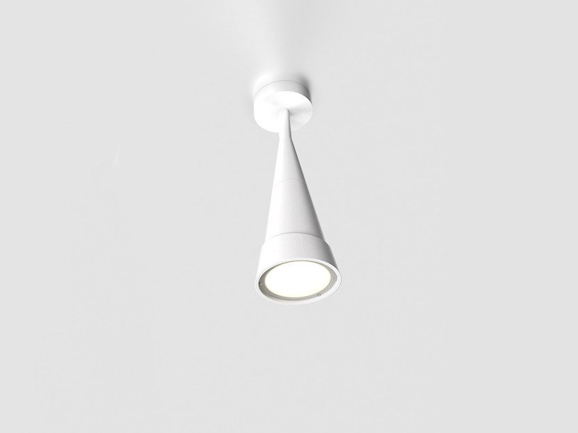 Cement ceiling lamp HANS REVERSE H45 by Lombardo
