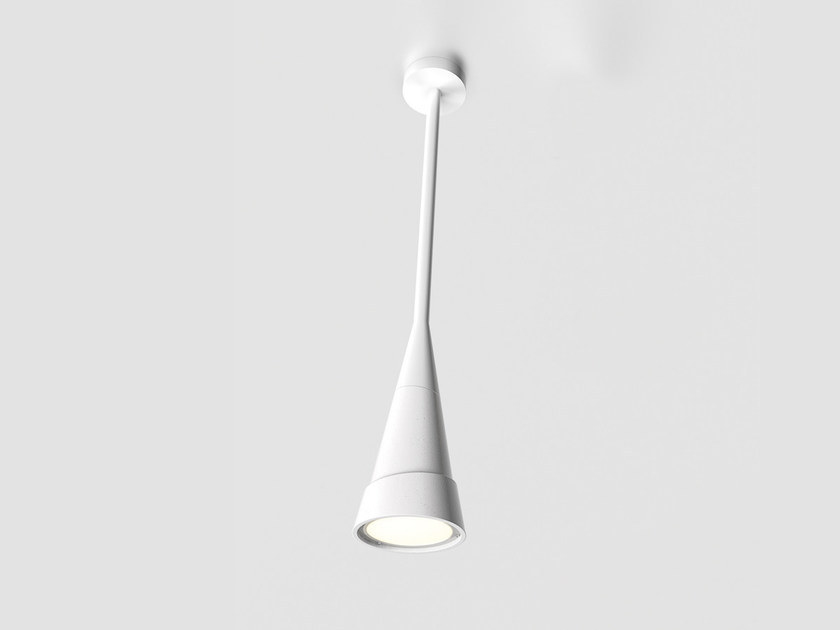 Cement ceiling lamp HANS REVERSE H90 by Lombardo