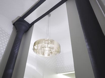 Halogen stainless steel pendant lamp GALAXIE 6A by Thierry Vidé design