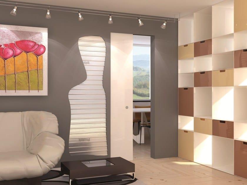 Counter frame for flush-fitting doors for single sliding door LINEAR® SINGLE by PROTEK®
