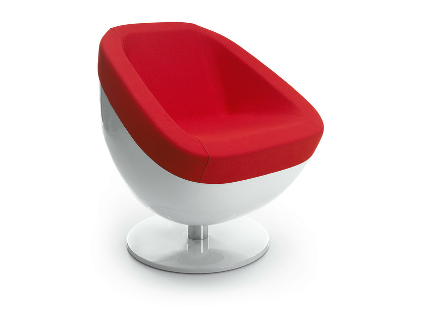 Swivel upholstered easy chair BLOB by OUTSIDER