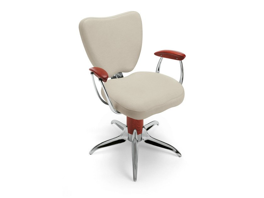 Swivel chair with 5-spoke base with armrests GRAND TORINO W by OUTSIDER