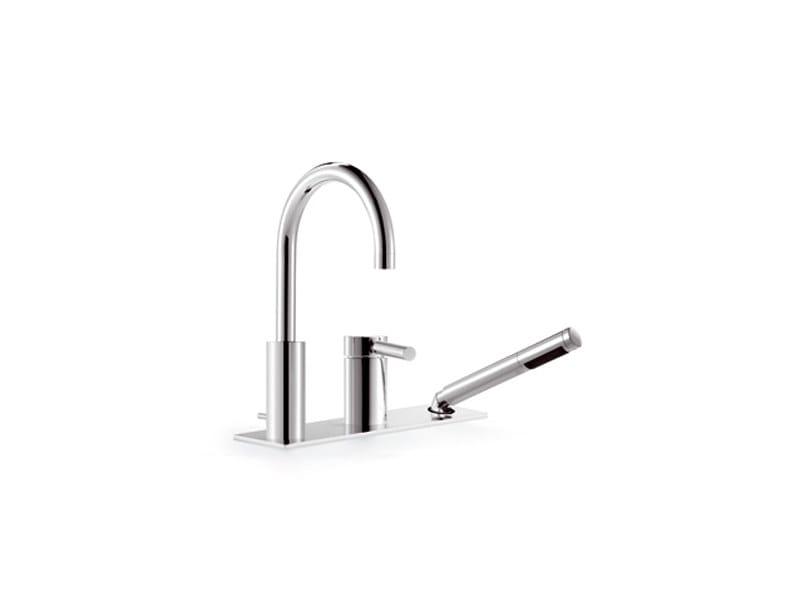 3 hole bathtub mixer with hand shower TARA.LOGIC | 3 hole bathtub mixer by Dornbracht