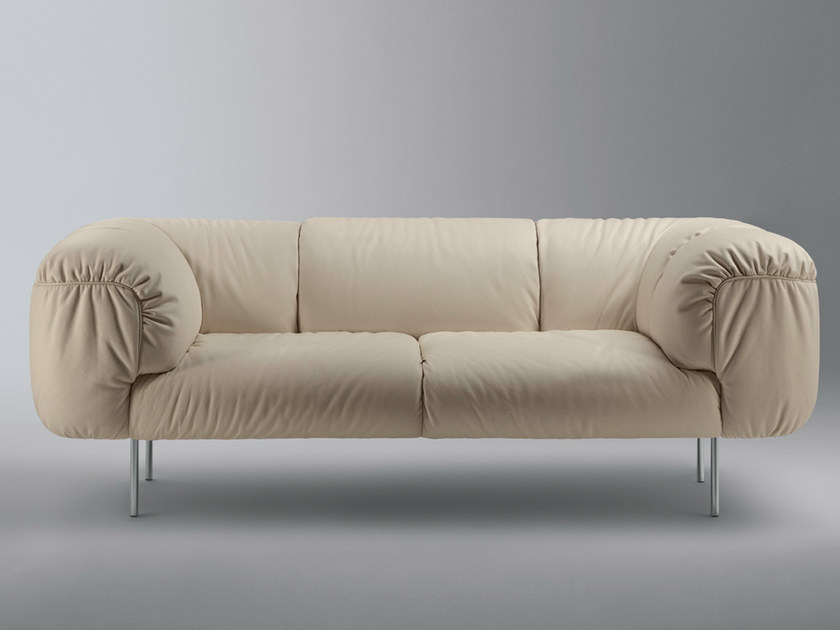 2 seater leather sofa BEBOP | 2 seater sofa by Poltrona Frau