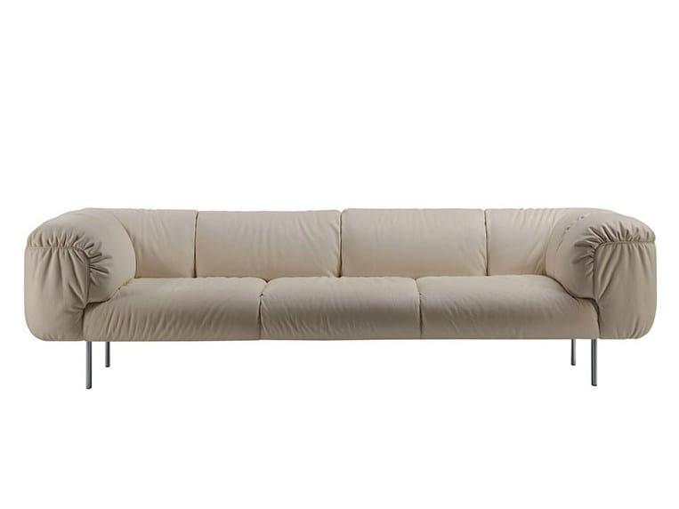 3 seater leather sofa BEBOP   3 seater sofa by Poltrona Frau