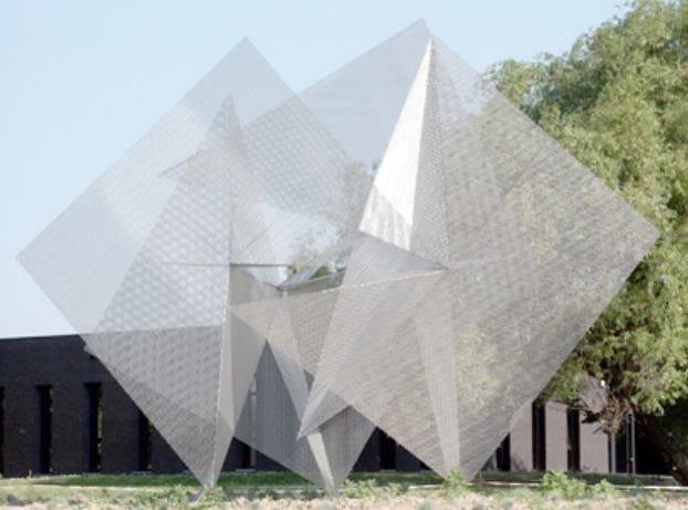 Sculpture BLUE STAR by Thierry Vidé design