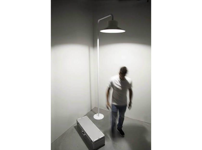 Lampada Vintage Da Terra : Lampada da terra in metallo verniciato palo vintage 90° quid 160 by