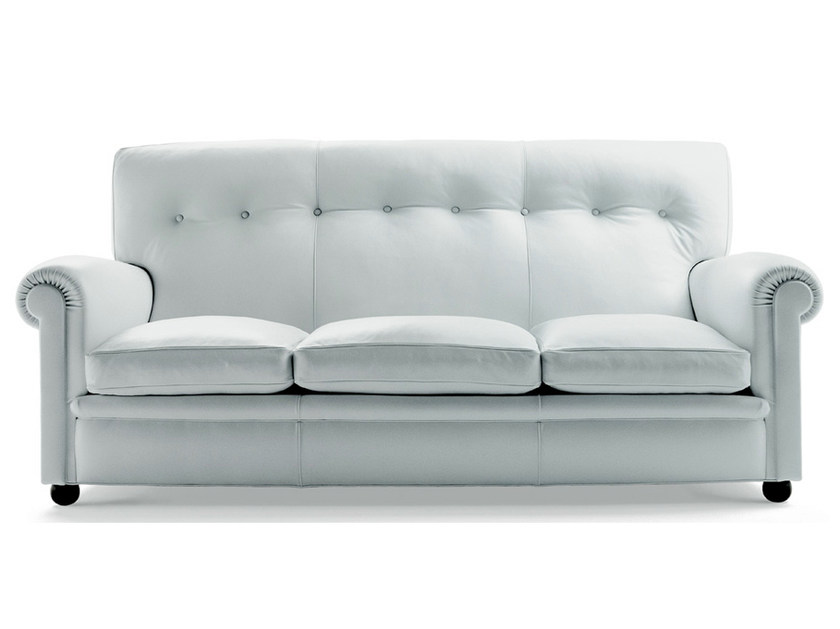 3 seater leather sofa EDOARDO   3 seater sofa by Poltrona Frau