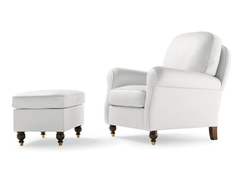 Leather armchair GEORGE   Armchair by Poltrona Frau