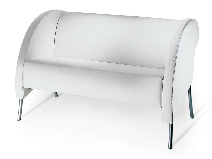 Imitation leather small sofa BIARRITZ | Small sofa by OUTSIDER