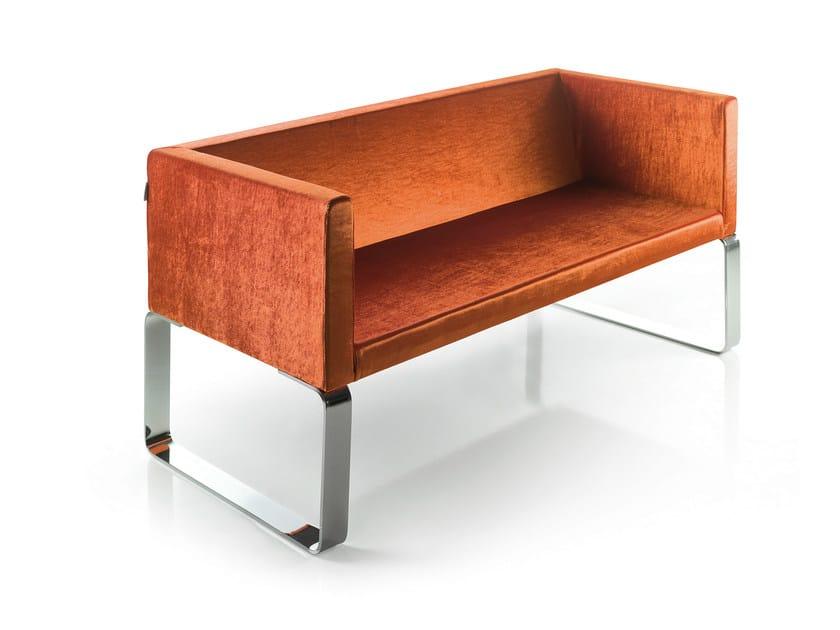 Fabric small sofa CUBA | Small sofa by OUTSIDER