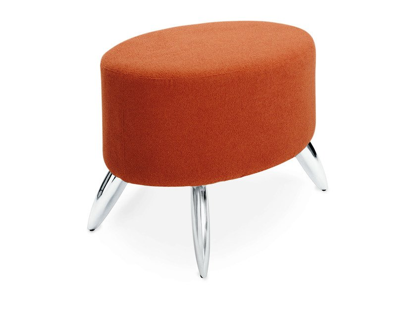 Upholstered fabric pouf KEY | Pouf by OUTSIDER