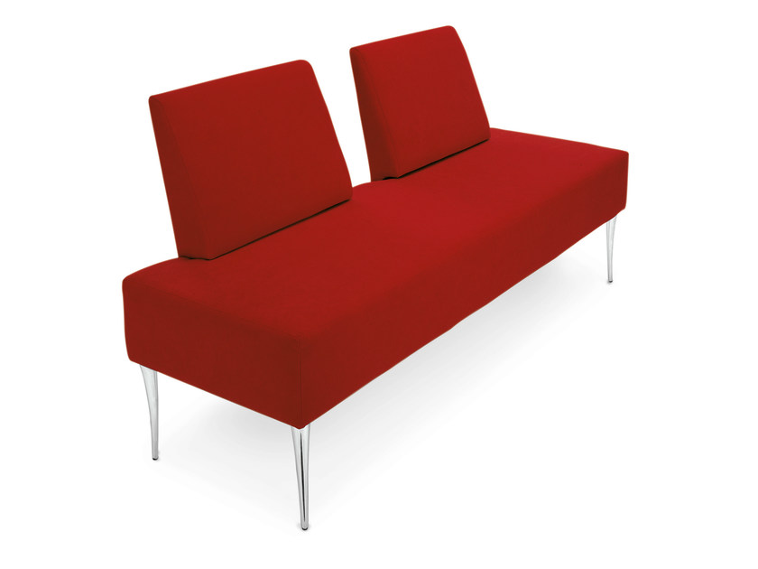 Upholstered imitation leather bench with back FLAVIUS by OUTSIDER