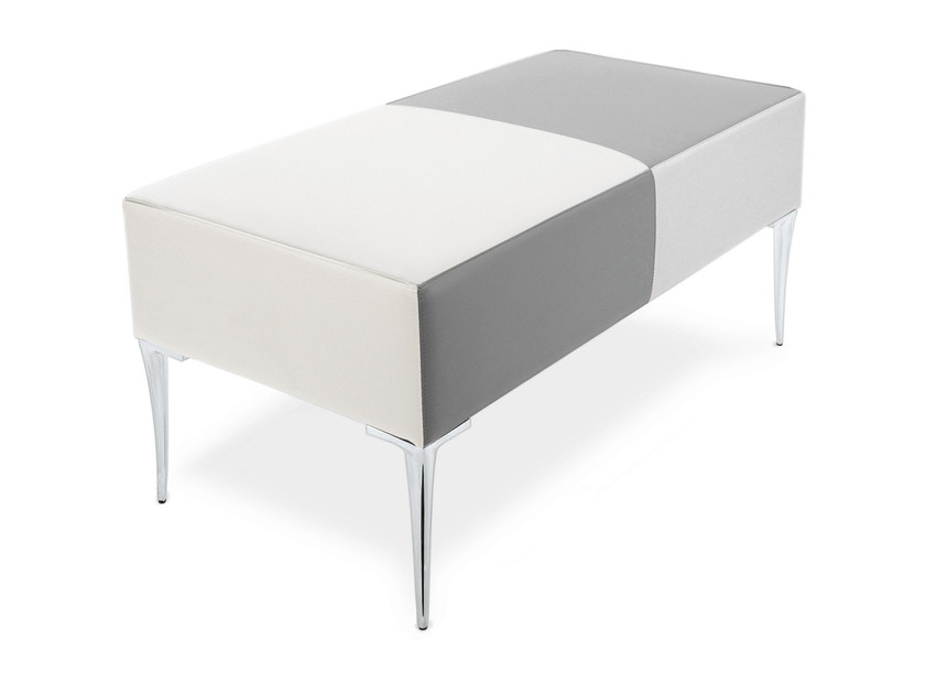 Upholstered imitation leather bench TECLA   Bench by OUTSIDER