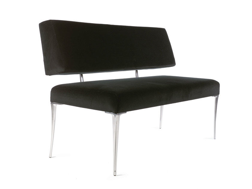 Upholstered imitation leather bench with back GALLIO by OUTSIDER