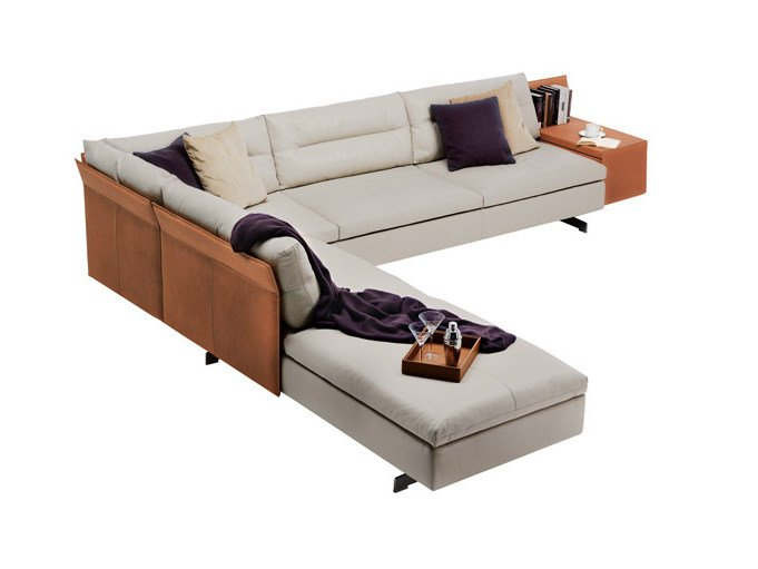 GRANTORINO | Sectional sofa By Poltrona Frau design Jean-Marie Massaud