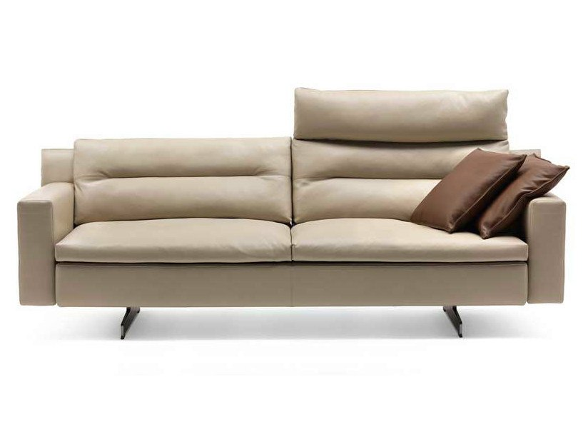 2 seater sofa with headrest GRANTORINO | 2 seater sofa by Poltrona Frau