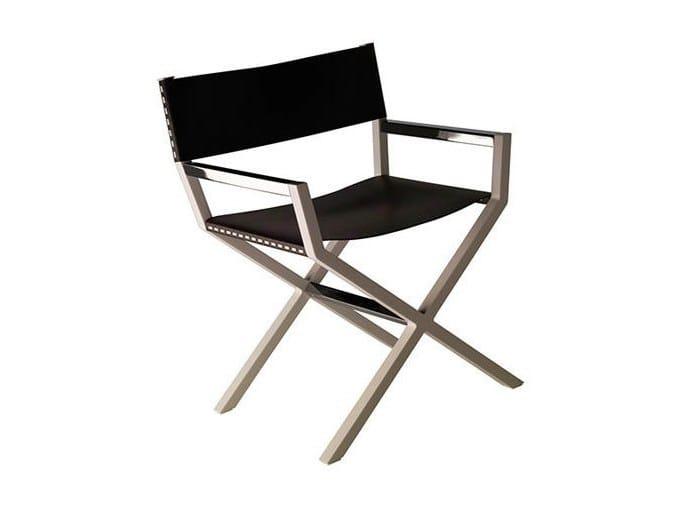 Chair with armrests HELLEU by Poltrona Frau