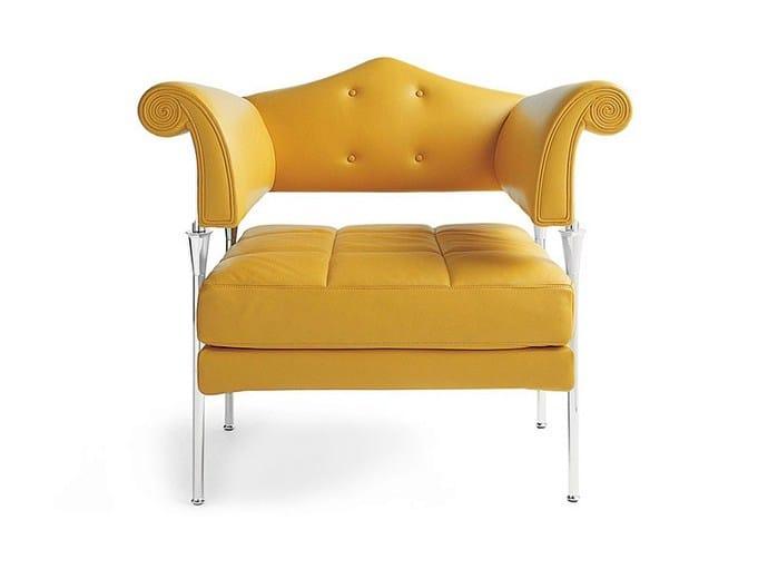 Leather armchair HYDRA ENIF by Poltrona Frau