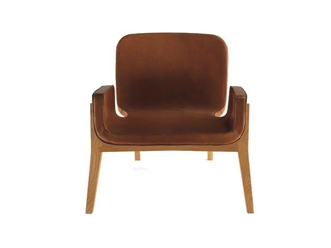 Leather easy chair JOCKEY by Poltrona Frau