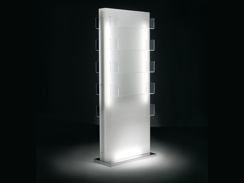 Double-sided plexiglass display unit with light LUMI DOUBLE FACE by OUTSIDER
