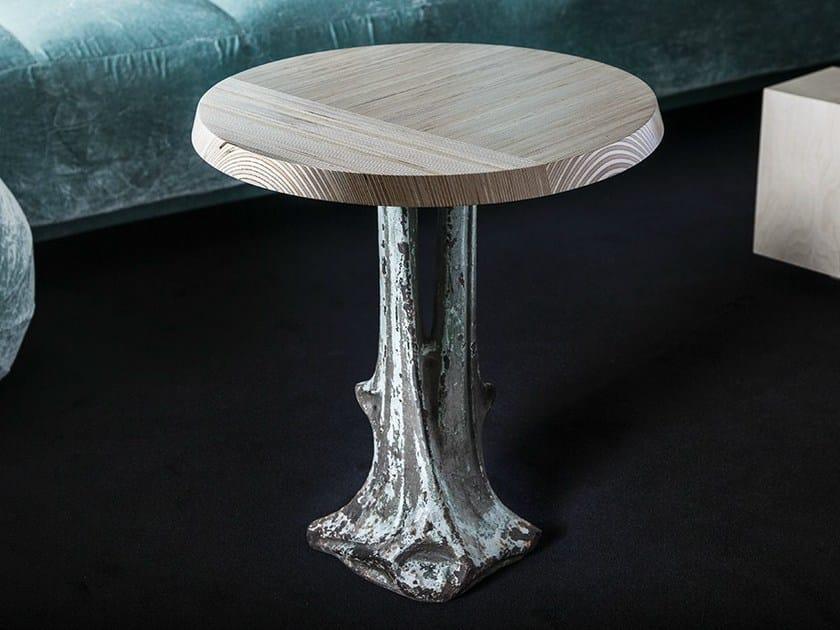 Round multi-layer wood coffee table GUÉRIDON GUIMARD by MALHERBE EDITION