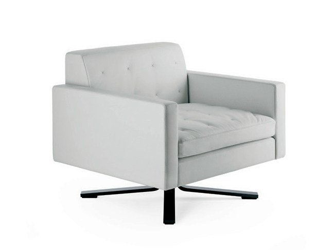 Armchair With 4 Spoke Base Kennedee By Poltrona Frau