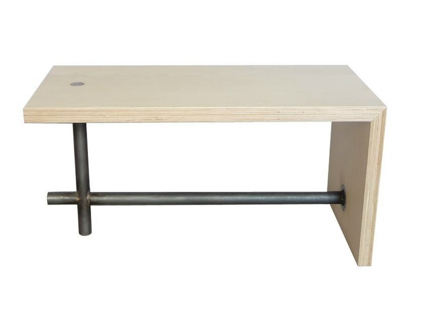 Rectangular multi-layer wood coffee table L'ACIER L2 by MALHERBE EDITION