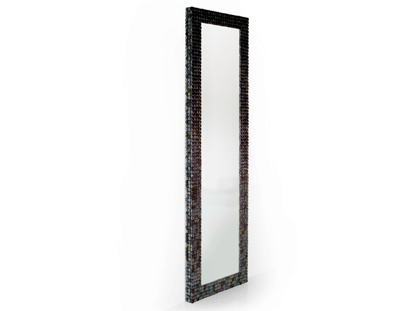 Rectangular wall-mounted framed mirror MOSAIQUE by OUTSIDER
