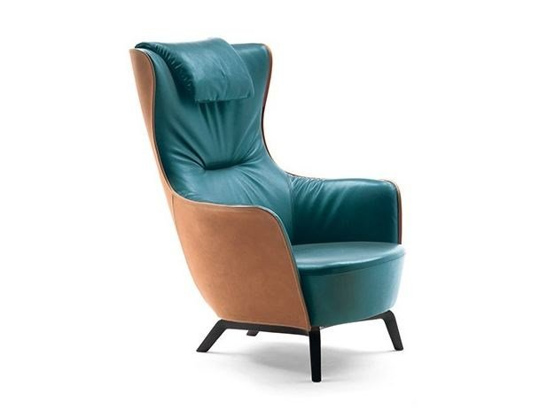 Bergere armchair MAMY BLUE By Poltrona Frau design Roberto ... 13ff8911d23