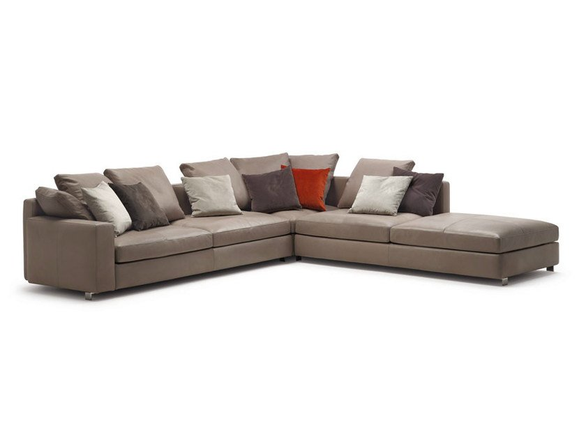 MASSIMOSISTEMA | Sectional sofa By Poltrona Frau