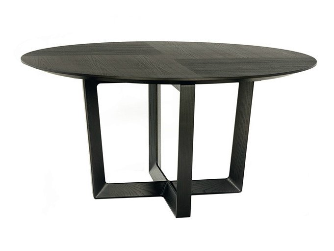 Round solid wood table BOLERO | Round table by Poltrona Frau