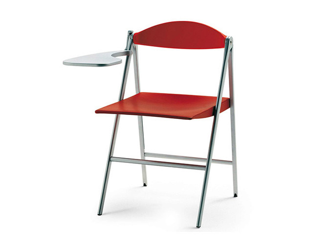 Donald Poltrona Frau.Donald Training Chair With Writing Tablet