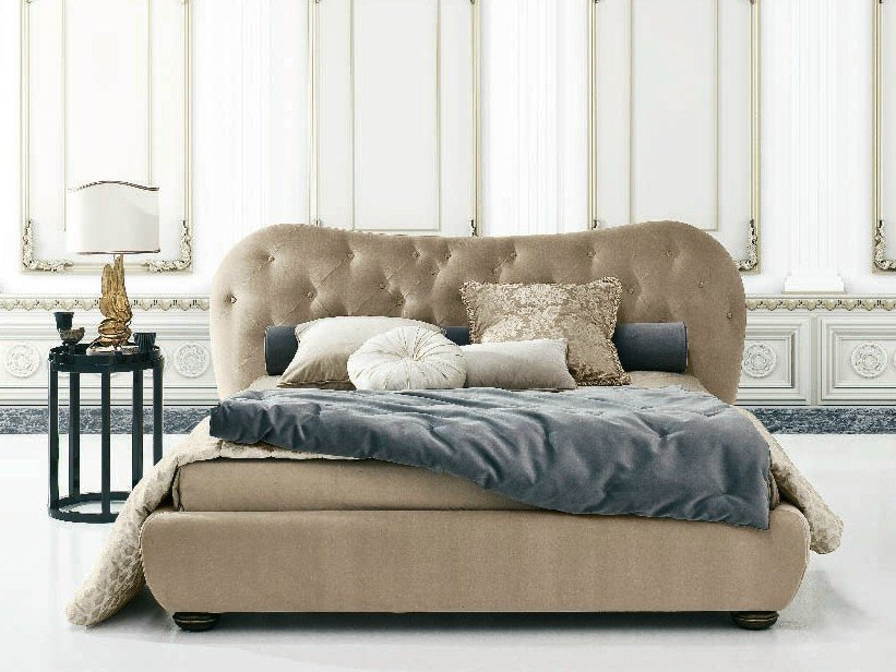 Double bed with tufted headboard GIULIETTA FREE by Twils