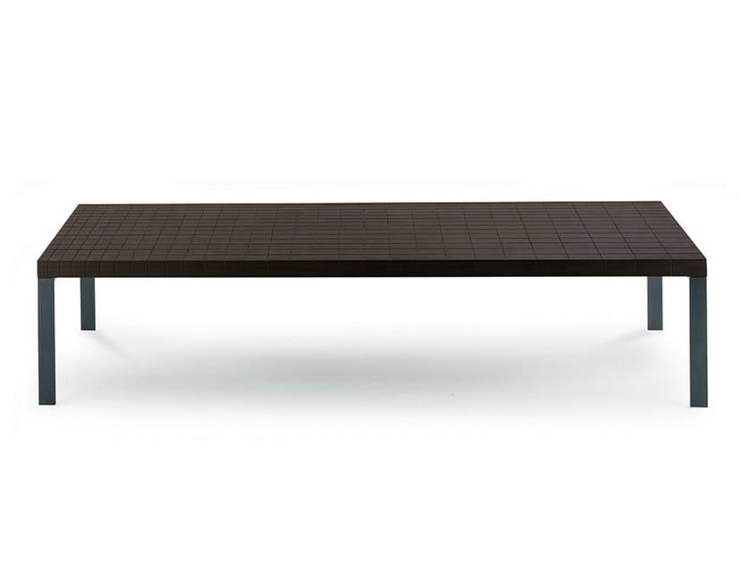 Rectangular wenge coffee table GEOMETRIE   Rectangular coffee table by Poltrona Frau